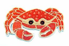 Crab Iron On Patch- Fish Kids Animal Underwater Badge Applique Sew