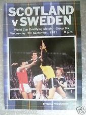 1981 World Cup Qualifying Match SCOTLAND v SWEDEN, 9 Sept
