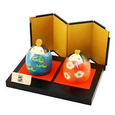 "A Creation Kokeshi doll ""Warai(laughing HINA) "" design Usaburo 10cm A390025"