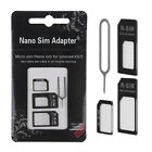 Nano SIM Card to Micro Standard Adapter Adaptor Converter Set For iPhone5 4S 5S