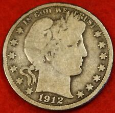 1912-D BARBER HALF DOLLAR G BEAUTIFUL COIN CHECK OUT STORE BH292