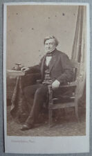Photo Carte de Visite Cdv  Par Bisson Frères Portrait professeur Grisolle 1869