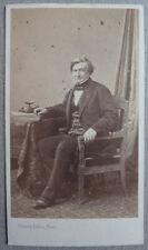 Photo Carte de Visite Cdv Par Bisson Frères Portrait professeur Grisolle 1869