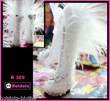 Fashion-Knee-High Boots For Blythe/Pullip/MonsterHigh/Obitsu/Lalaloopsy: B389,WH