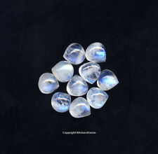 7x7 mm Heart Cut Rainbow Moonstone Cabochon For One