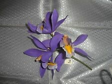 1 Vintage stem of Purple Plastic Orchids