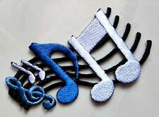 #19 Musical Notation Music Note Symbols Embroidered Iron on Patch Free Shipping