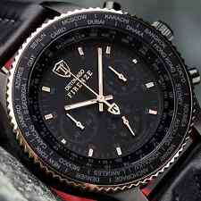 DETOMASO Firenze XXL Chronograph 48mm Mens  Watch Black Rose Gold New RRP £155