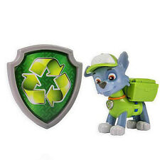 Paw Patrol Action Pack Pup & Badge Shield Dog Backpack Projectile Toy -Rocky