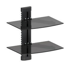 G-VO TV Floating Wall Shelf Shelving for DVD Sky Box Wii PS3