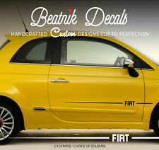 FIAT Side Stripes, 500, Punto - Sticker Vinyl Decal Graphic - High Quality