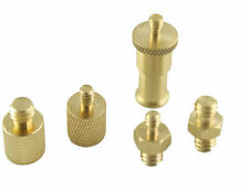 "5in1 1/4"" 3/8"" Brass Tripod Screw Adapters For Flash Light Stand UK Seller"