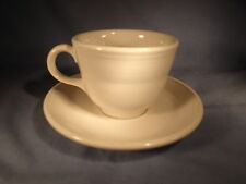 One Left-WHITE-Fiesta-CUP & SAUCER-Homer Laughlin-MADE IN USA-Near Mint