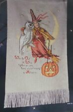 Cross Stitch Halloween WITCH PUMPKIN OWL Sampler + 5 PUMPKIN Design PATTERN