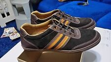 Brand New Cole Haan Mens Jax Sport Fashion Suede Sneaker Brown Striped Size 10