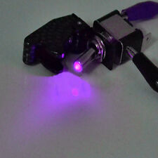12V Carbon Fiber Purple LED Rocker Toggle Switch SPST Control ON/OFF Car Sales