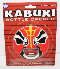 KABUKI FACE RED MASK #3 BOTTLE OPENER POP TOP STAINLESS STEEL BEER SODA NEW 2009