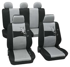 Silver & Black Stylish Car Seat Cover Set - Honda Jazz 2005 Onwards - Washable