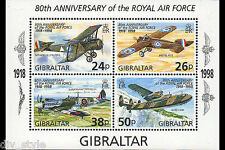 ‭‭Royal Air Force 80th Anniversary Souvenir Sheet mnh Gibraltar 1998
