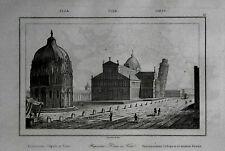 PISA= BATTISTERO - DUMO E TORRE PENDENTE= LAMAITRE.LAZIO.Artaud.1835.