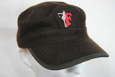 THE FRATELLIS EMBROIDERED GIRL LOGO BROWN CADET CAP BNWT OFFICIAL COSTELLO MUSIC