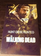 """THE WALKING DEAD Cast(x14) """"ANDREW LINCOLN""""Auth. Hand-Signed 11x17 photo (PROOF)"""