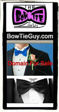 Bow Tie Guy .com Domain Names Sell  Bowties shop cart here Tuxes Website Tux