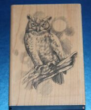 NEW Inkadinkado 'Owl' Wooden Backed Rubber Stamp 97897P