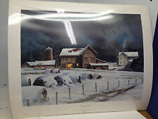 John Obolewicz Ducks Unlimited Print Signed Numbered Whispering Wings Winter DU