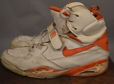 Vintage NIKE AIR FORCE HIGH TOP 12D ORANGE WHITE PRE OWNED 80S 90S