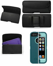 IPHONE 5 5c 5s HOLSTER BELT LOOP CLIP LEATHER POUCH FITS OTTERBOX CASE ON PHONE