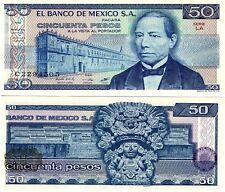MEXICO, 50 PESOS, 1981, P 73 , SERIES LA ,UNC, BANKNOTE, CENTRAL AMERICA
