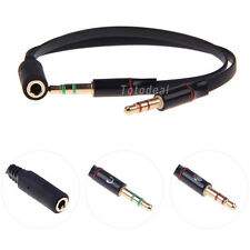 NEW Soft 3.5mm Female to 2 Male Headphone Mic Audio Y Splitter Durable Cable 97