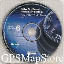 1997 to 2002 BMW 3 5 7 Series X5 M5 Navigation Map Cover New England & Atlantic