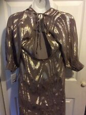 urban outfitters ECOTE xs new Holiday party metallic gold tunic Top Blouse