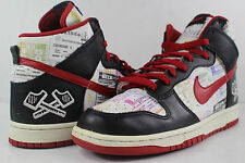 Nike Dunk High Prmeium Lucha Libre Black Sport Red White Size 8