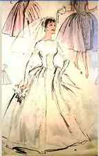 Vintage 50's BUTTERICK 8704 WEDDING DRESS/ BRIDAL GOWN/PROM -Sewing Pattern B32