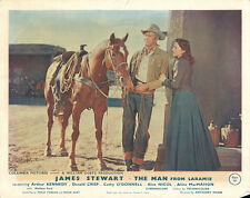 Man From Laramie original lobby card James Stewart Cathy O'Donnell and horse