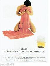 PUBLICITE ADVERTISING 115  1988  JEAN COUTURIER   eau de toilette homme KEORA