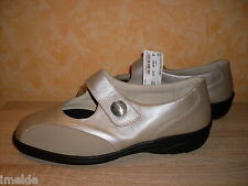 Solidus Air cushion Velcro slippers MAIKE Size 8,5 42,5 M in taupe &