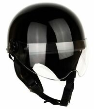 [ Black ] Shield Helmets Half Face Vintage Motorcycle Motorbike