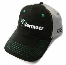 VERMEER Equipment *BLACK GRAY & GREEN* TRADEMARK LOGO  HAT CAP * NEW* VR07