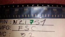 5x  FSC  NZT751 , POWER Transistor GP BJT PNP 60V 4A 4-Pin(3+Tab) SOT-223