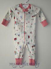 HANNA ANDERSSON Baby Organic Zip Sleeper Little Village 90 3T 3 NWT