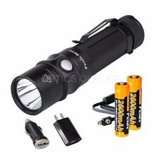 Fenix RC11 1000 Lumen USB Rechargeable LED Flashlight w/ 2x18650 Batteries
