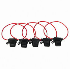 5Pcs In-Line Car Blade Fuse Holder Waterproof 30A 12V DC Car Bike