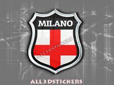 Pegatina Emblema 3D Relieve Bandera Milan - Todas las Banderas del MUNDO