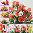 12 BUSH 252 Mini Silk Rose Buds silk flower bouquet craft decoration card making