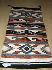 "Throw Rug Tapestry Southwest Western Hand Woven Wool 20x40"" Replica #311 E"