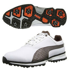 PUMA MEN'S TITANLITE GOLF SHOES SIZE:US 9.5 *WIDE* 187580 WHITE/CHESTNUT 17114